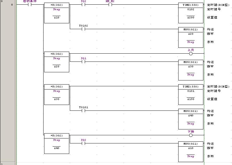 四节传送带plc接线图