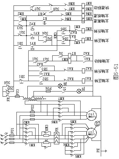 机电学校照明电路接线图
